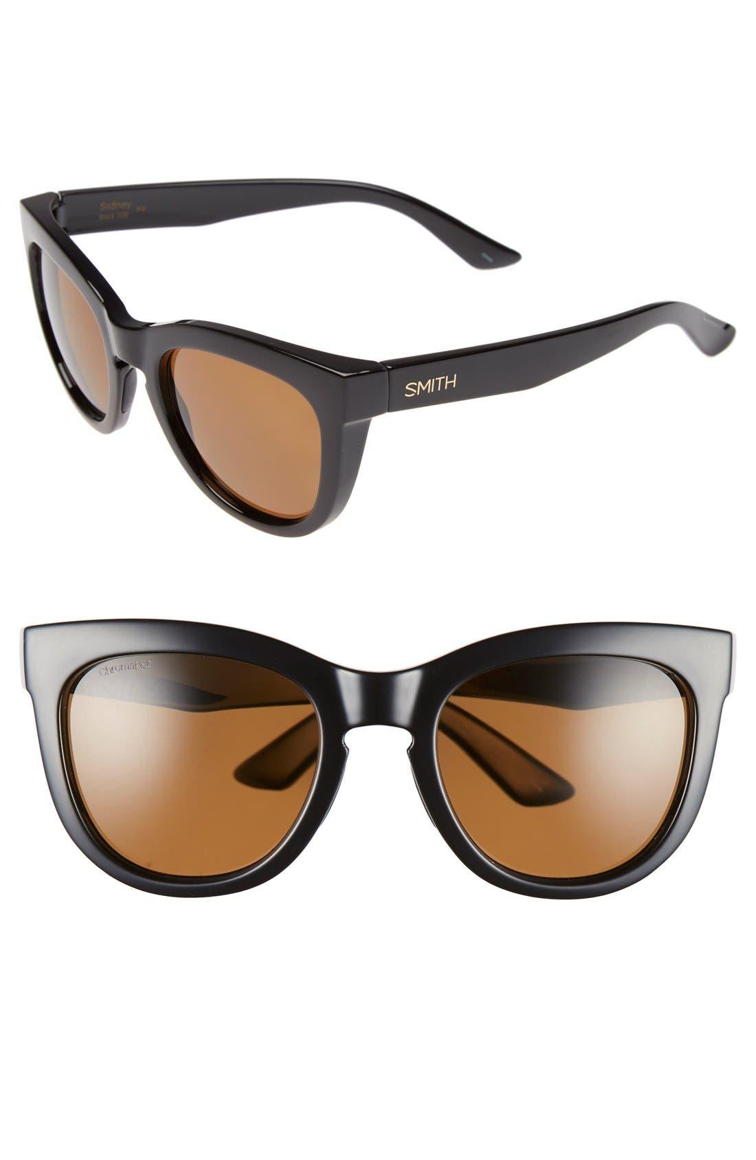 Main Image - Smith 'Sidney' 55mm Polarized Sunglasses