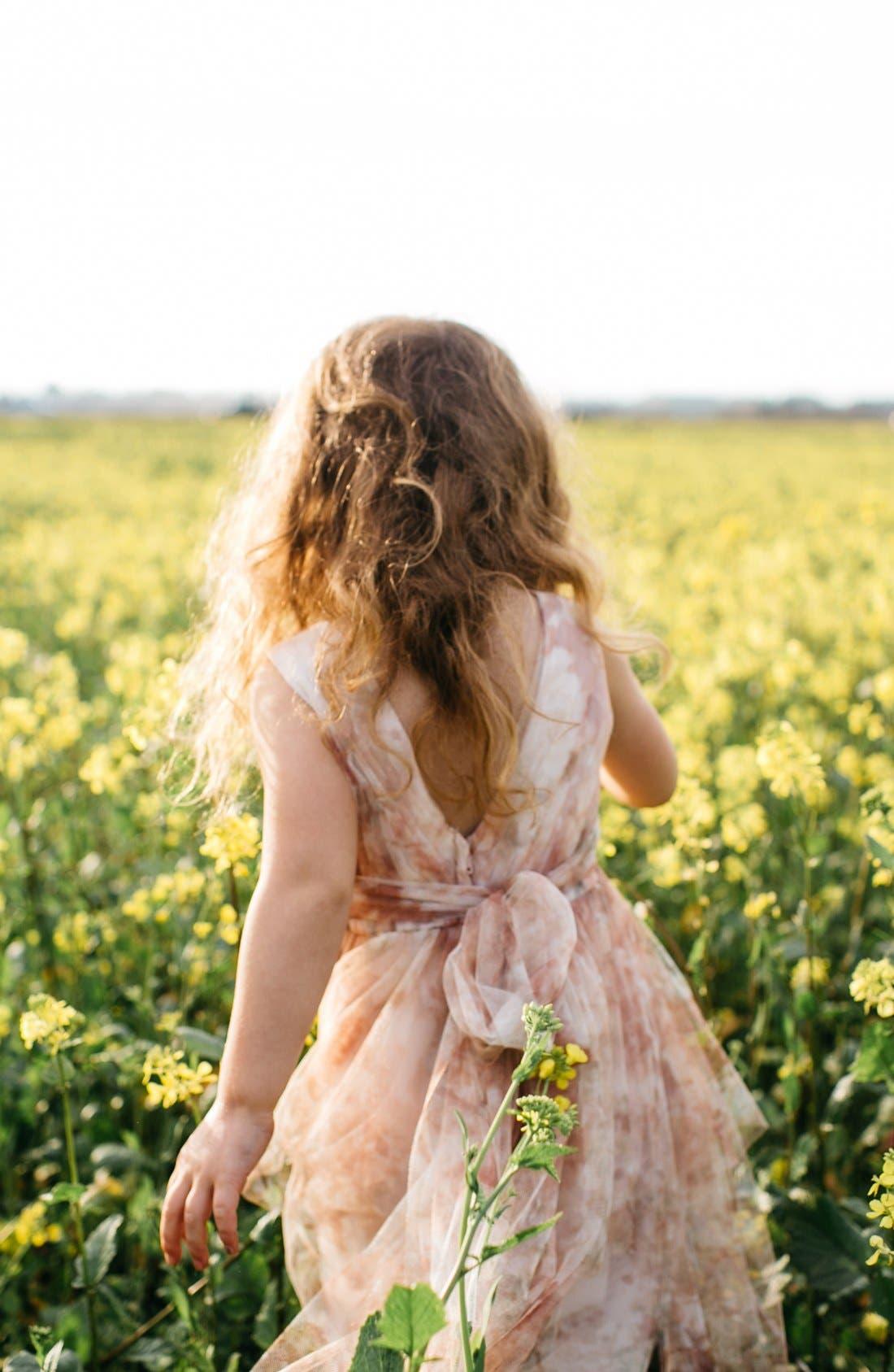 Etsy - Vintage Floral Tulle Dress,                             Alternate thumbnail 5, color,                             Blush Multi