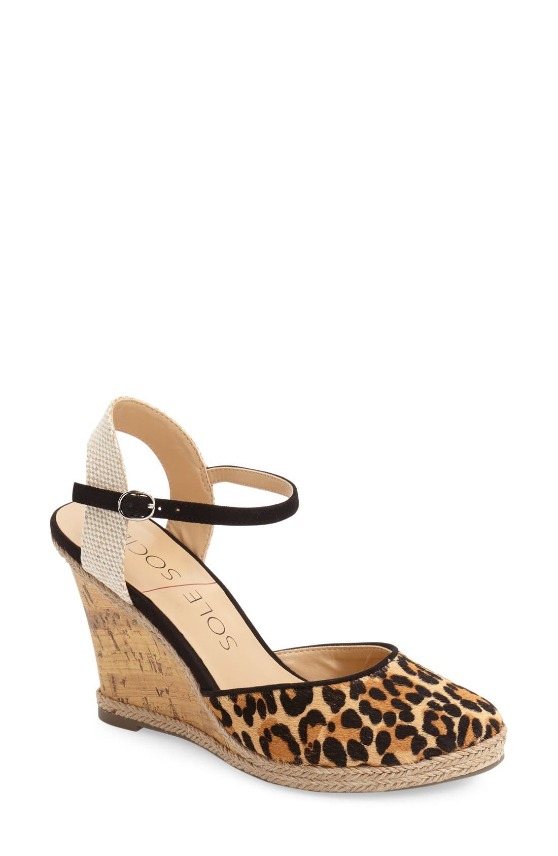 Alternate Image 1 Selected - Sole Society 'Lucy' Wedge Sandal (Women)