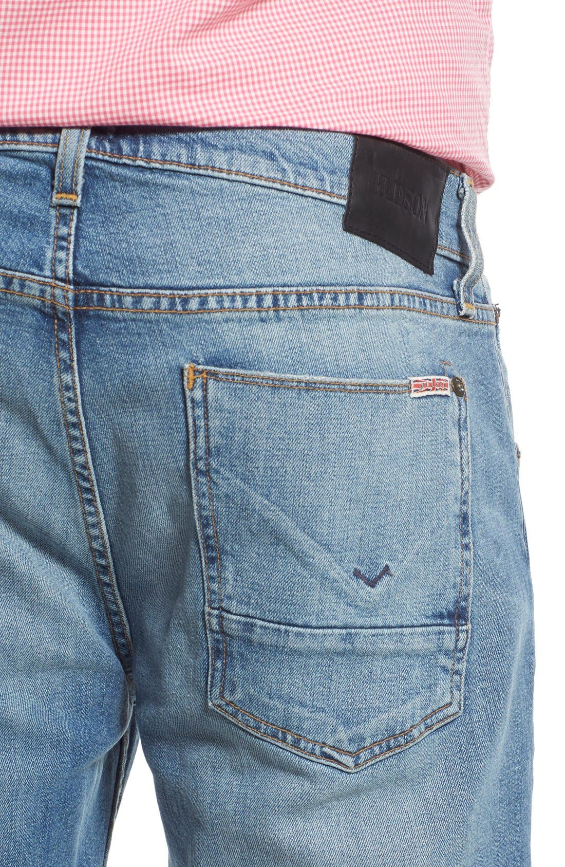 Byron Slim Straight Leg Jeans,                             Alternate thumbnail 5, color,                             Adversary