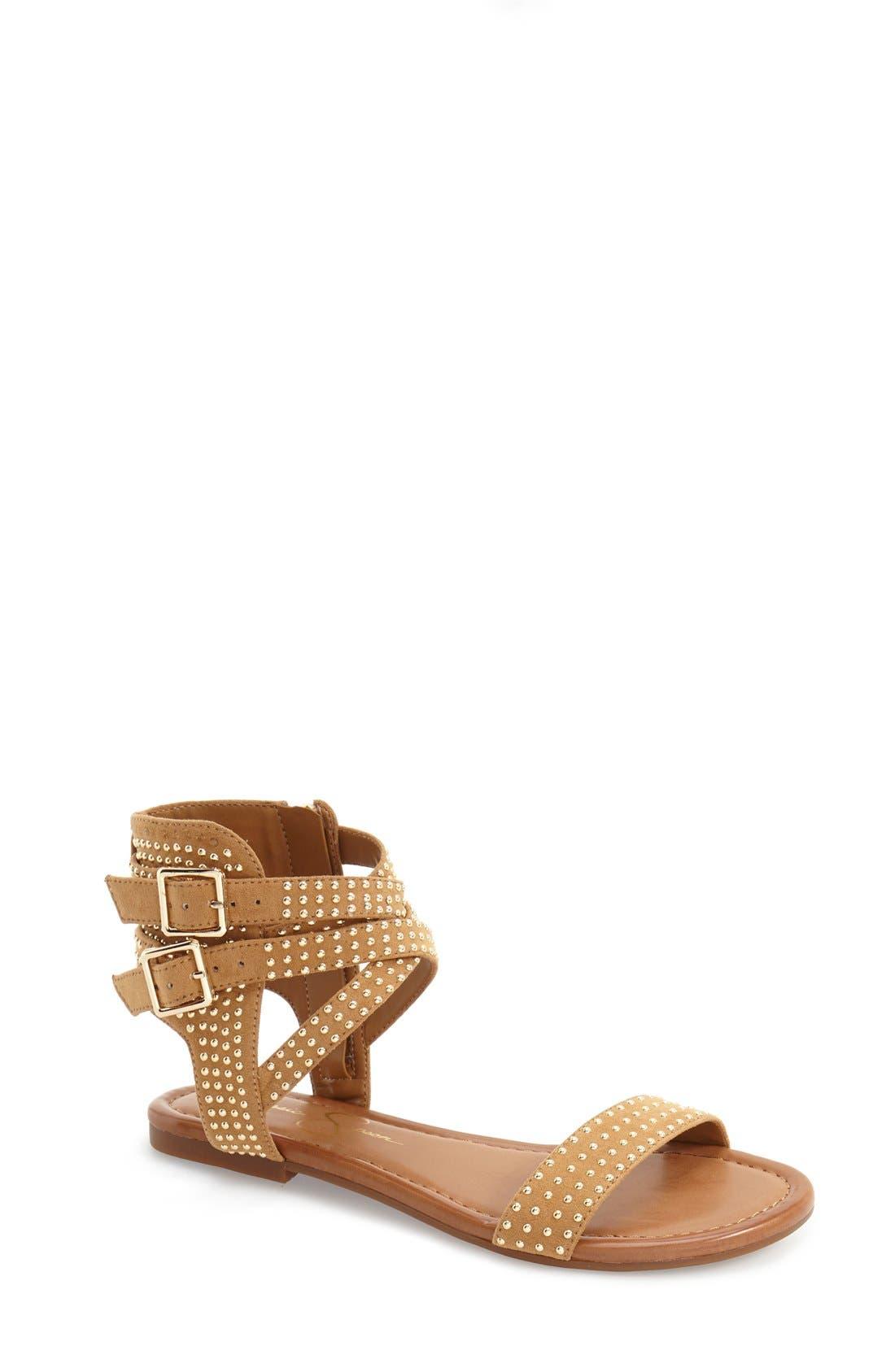 JESSICA SIMPSON Karessa Studded Flat Sandal