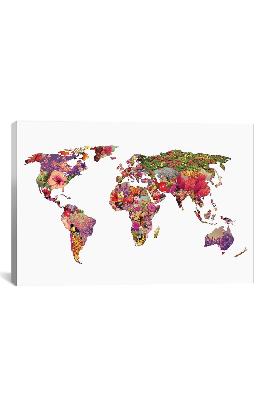 'It's Your World' Giclée Print Canvas Art,                         Main,                         color, White