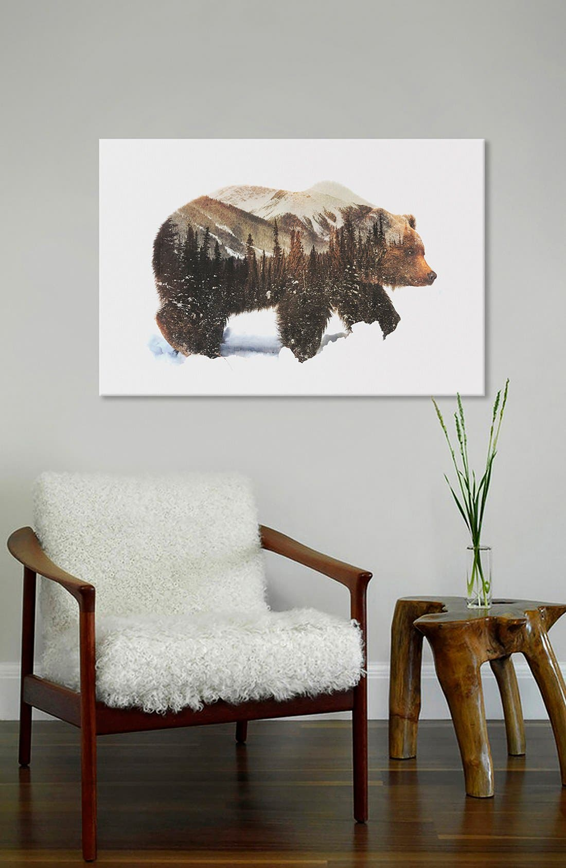 Alternate Image 2  - iCanvas 'Arctic Grizzly Bear' Fine Art Print