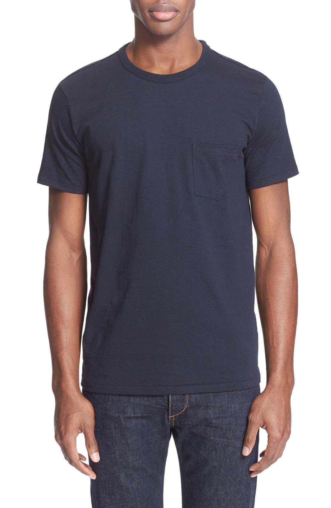 Pocket T-Shirt,                             Main thumbnail 1, color,                             Navy