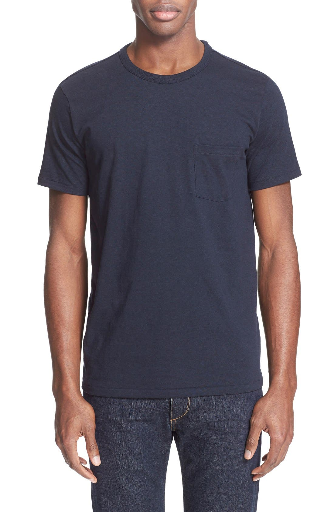 Pocket T-Shirt,                         Main,                         color, Navy