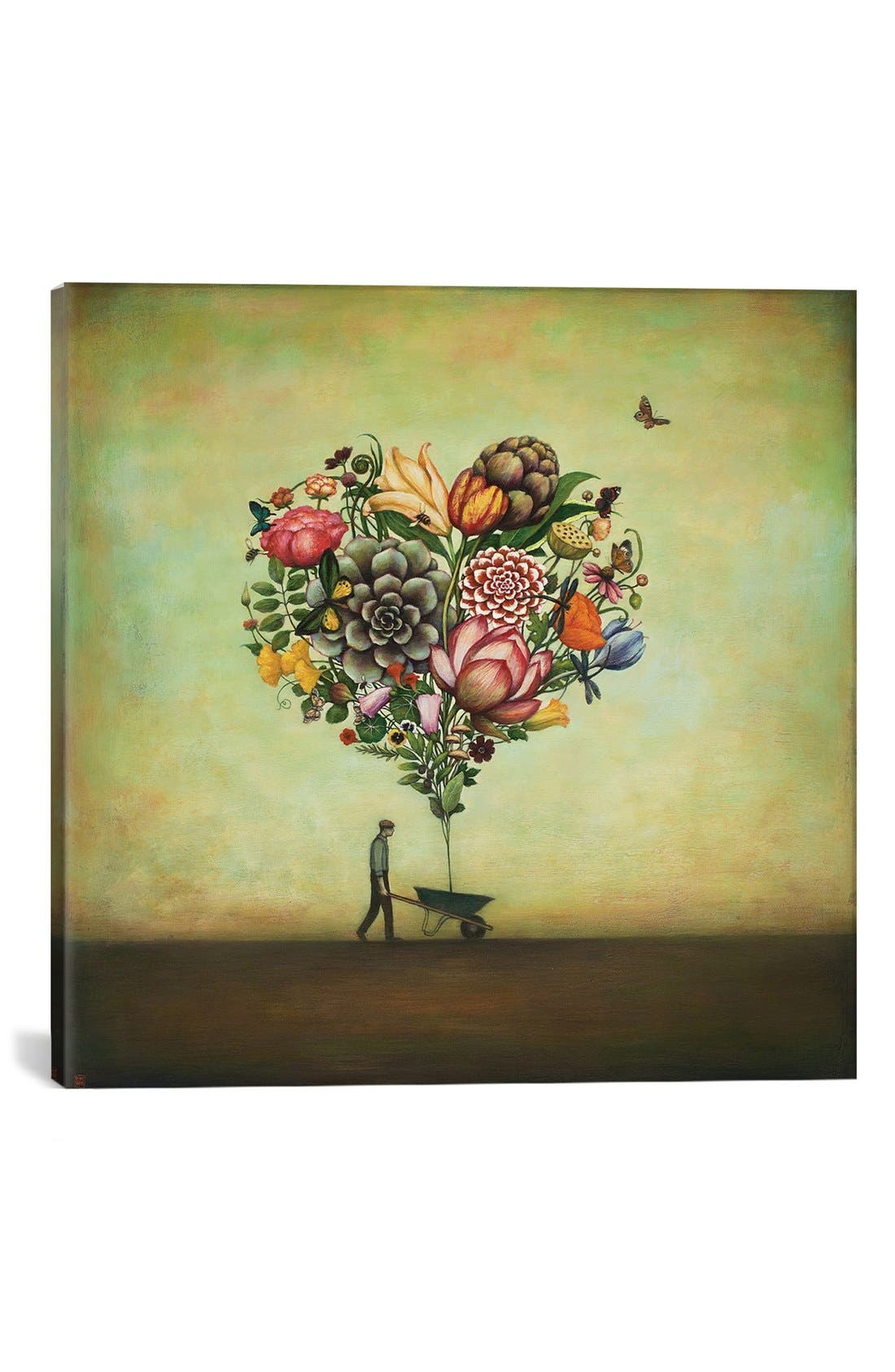 'Big Heart Botany' Giclée Print Canvas Art,                             Main thumbnail 1, color,                             Green