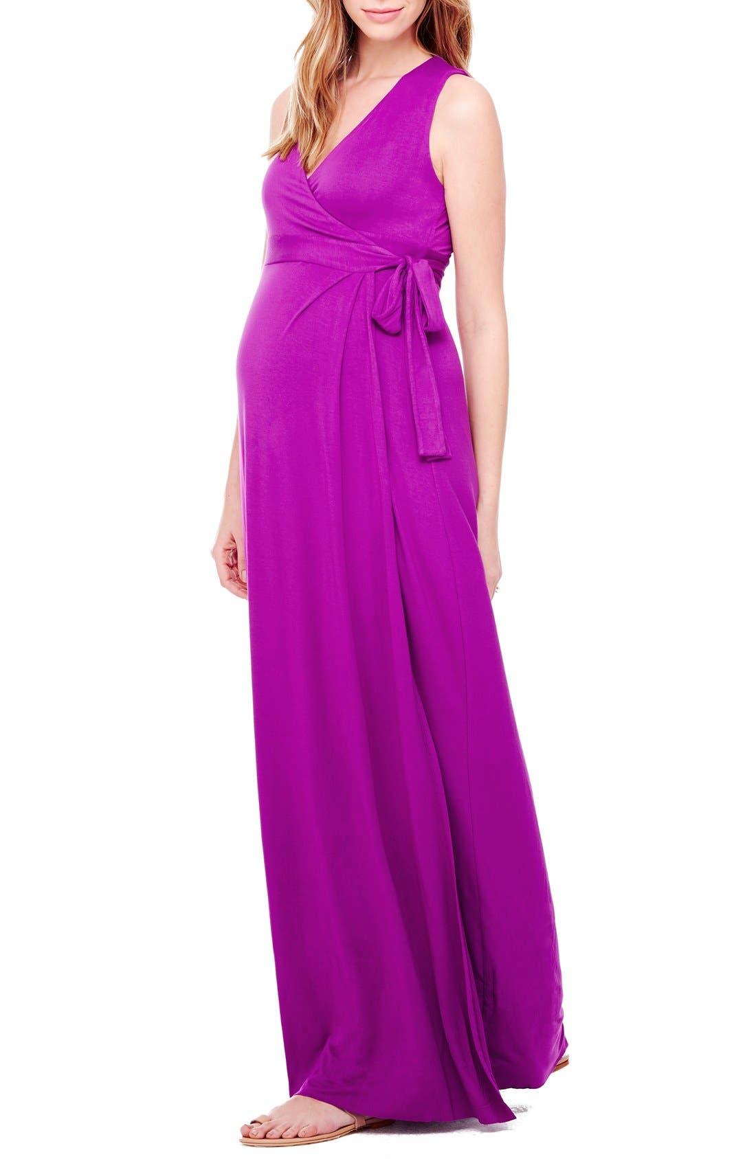 Ingrid & Isabel® Wrap Maternity Maxi Dress