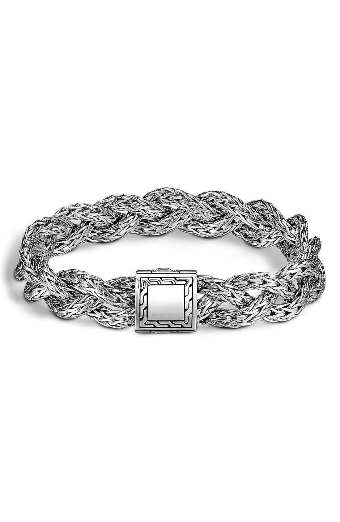 Alternate Image 1 Selected - John Hardy 'Classic Chain' Small Braided Bracelet