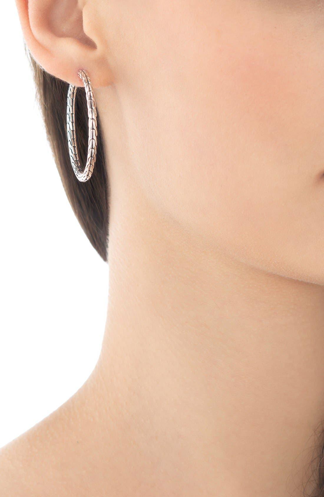 Alternate Image 2  - John Hardy 'Classic Chain' Medium Hoop Earrings