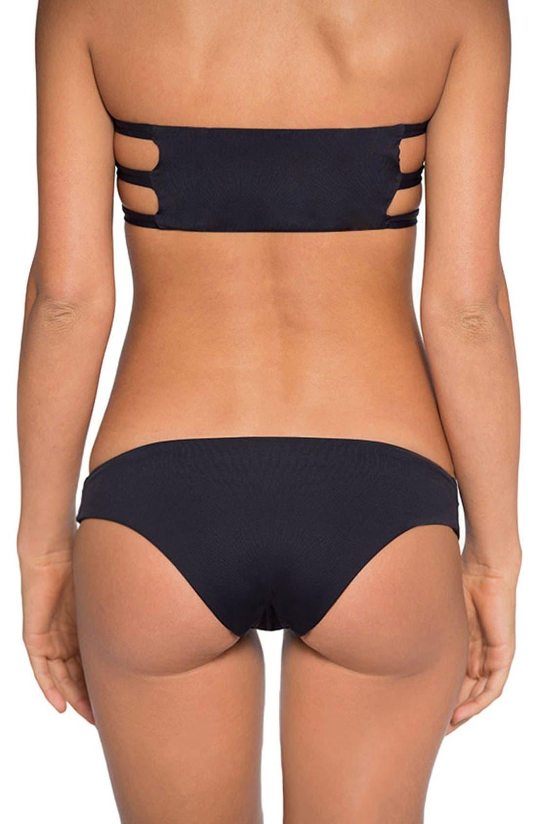 'Ali' Moderate Coverage Bikini Bottoms,                             Alternate thumbnail 7, color,                             Black