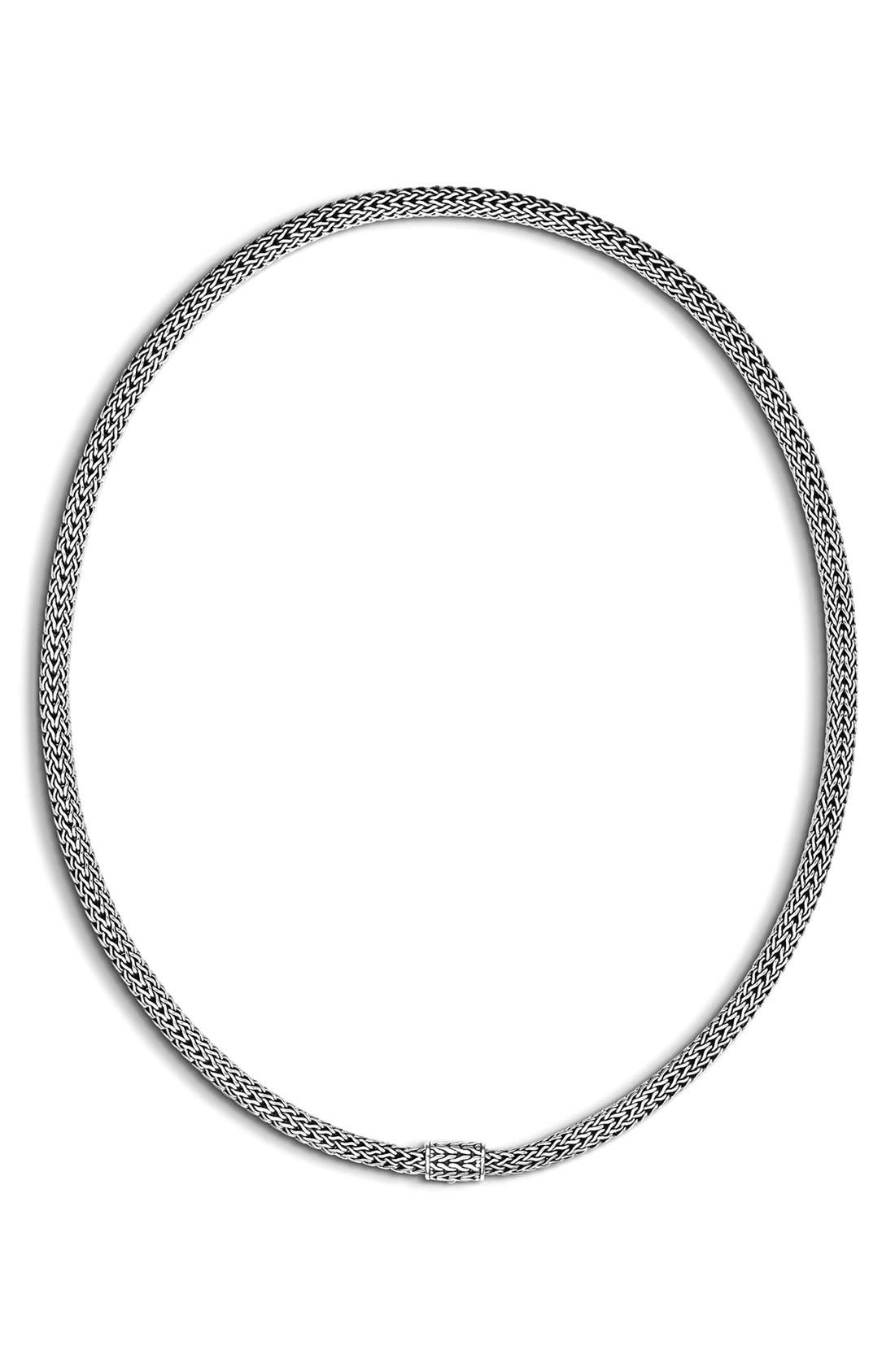 Extra-Small Chain Necklace,                         Main,                         color, Silver 2
