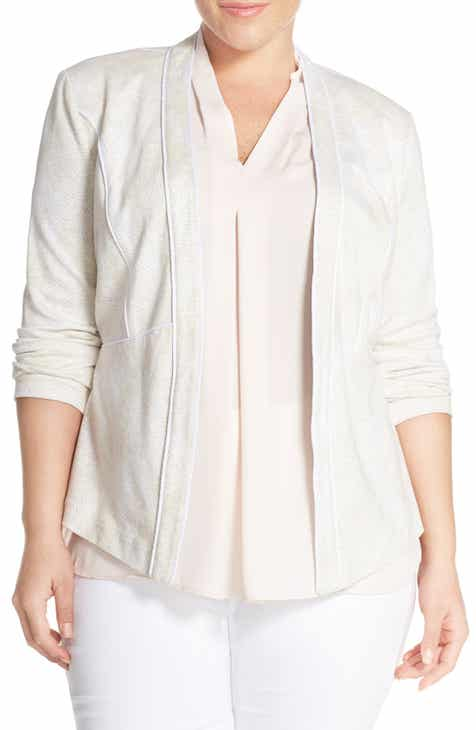 Tart 'Hilary' Open Front Blazer (Plus Size) by TART