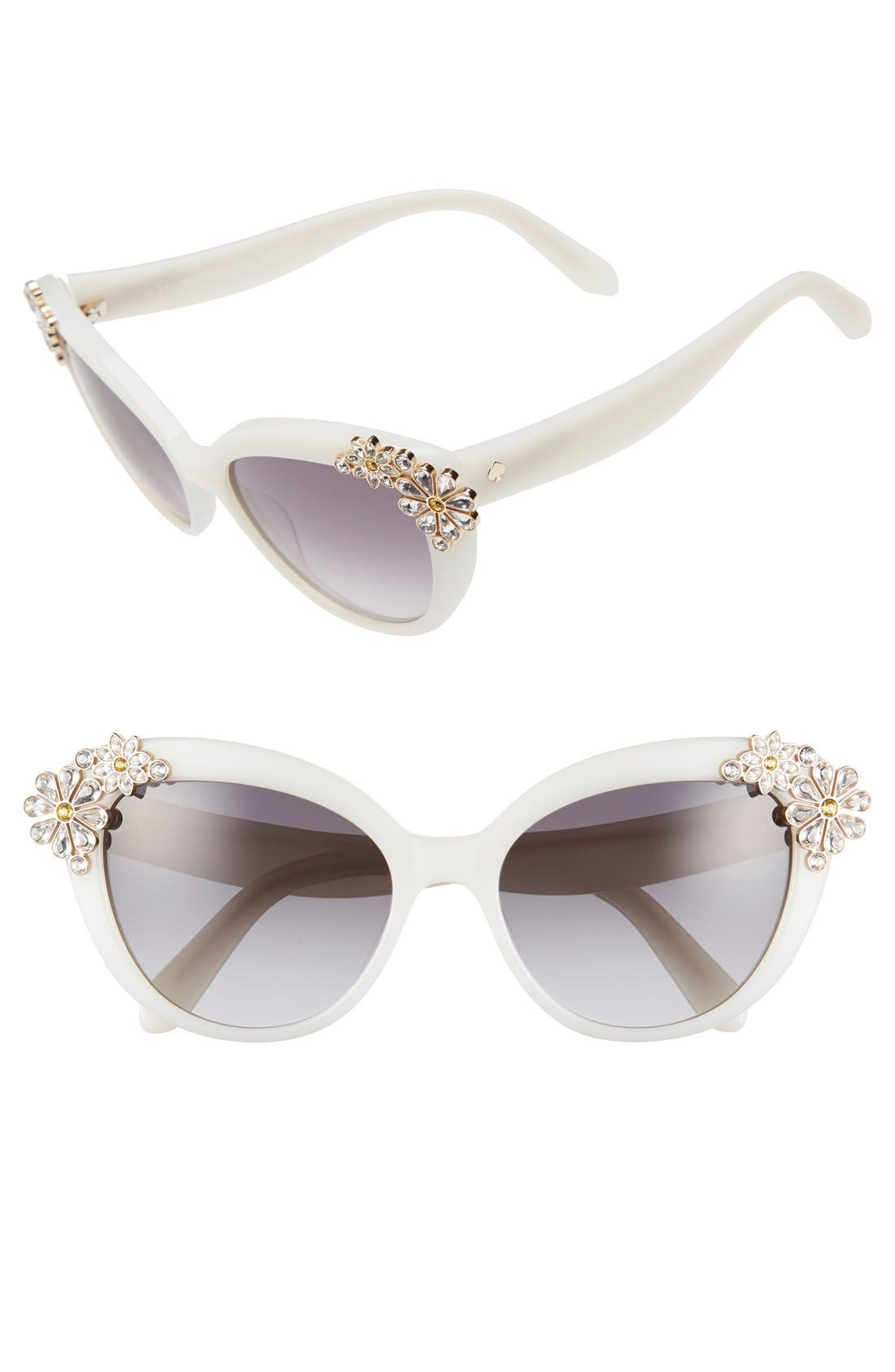 Alternate Image 1 Selected - kate spade new york 'karyna' 55mm cat eye sunglasses