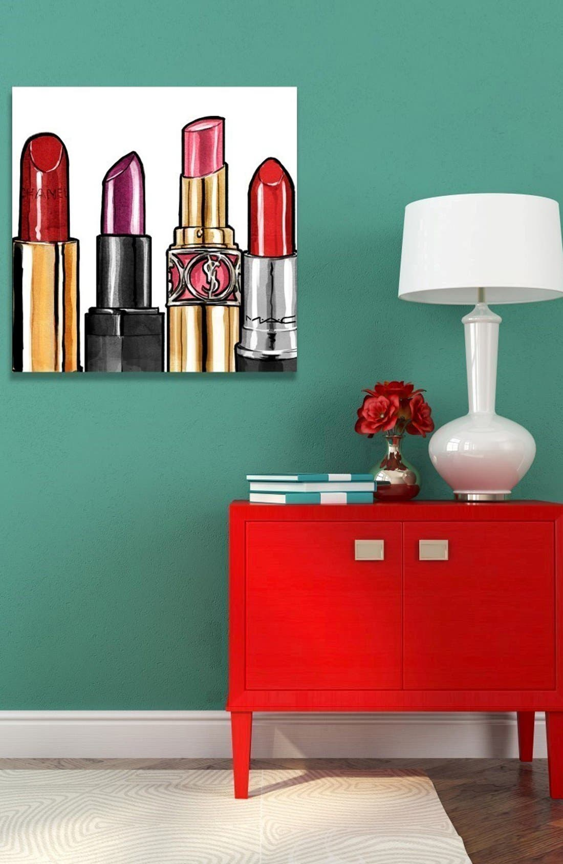 Alternate Image 2  - Oliver Gal 'Red Lipstick' Canvas Wall Art