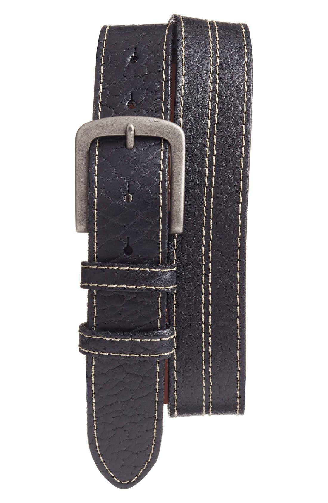 Alternate Image 1 Selected - Torino Belts Bison Leather Belt