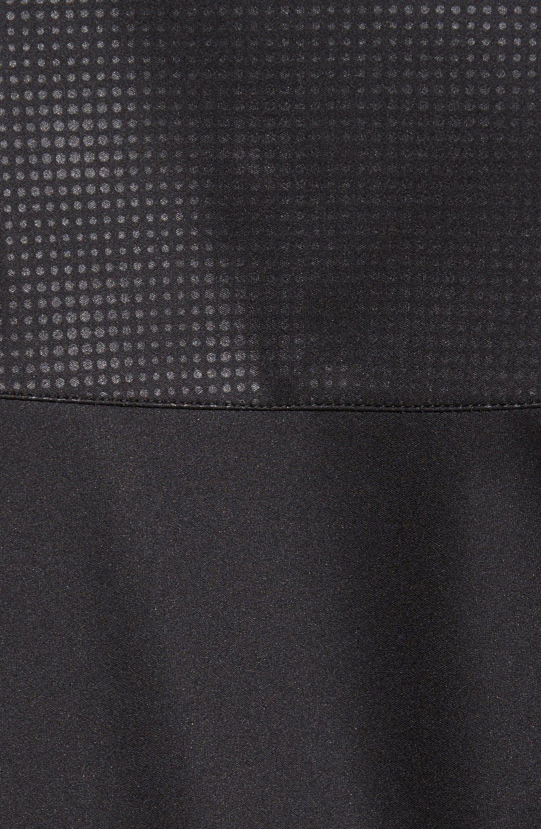 'Realm' Waterproof Bonded Zip Hoodie,                             Alternate thumbnail 5, color,                             Black