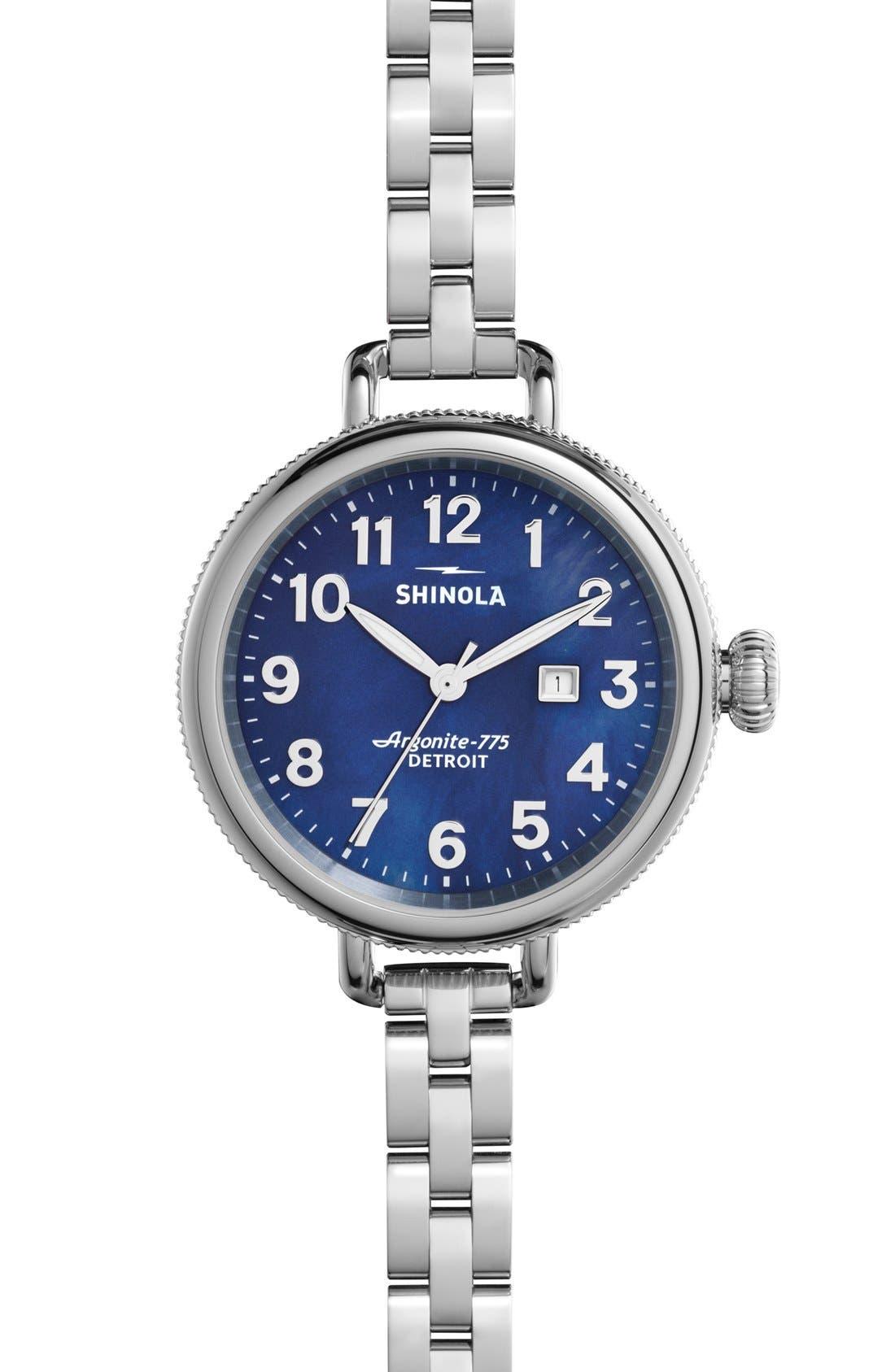 Main Image - Shinola 'The Birdy' Bracelet Watch, 34mm
