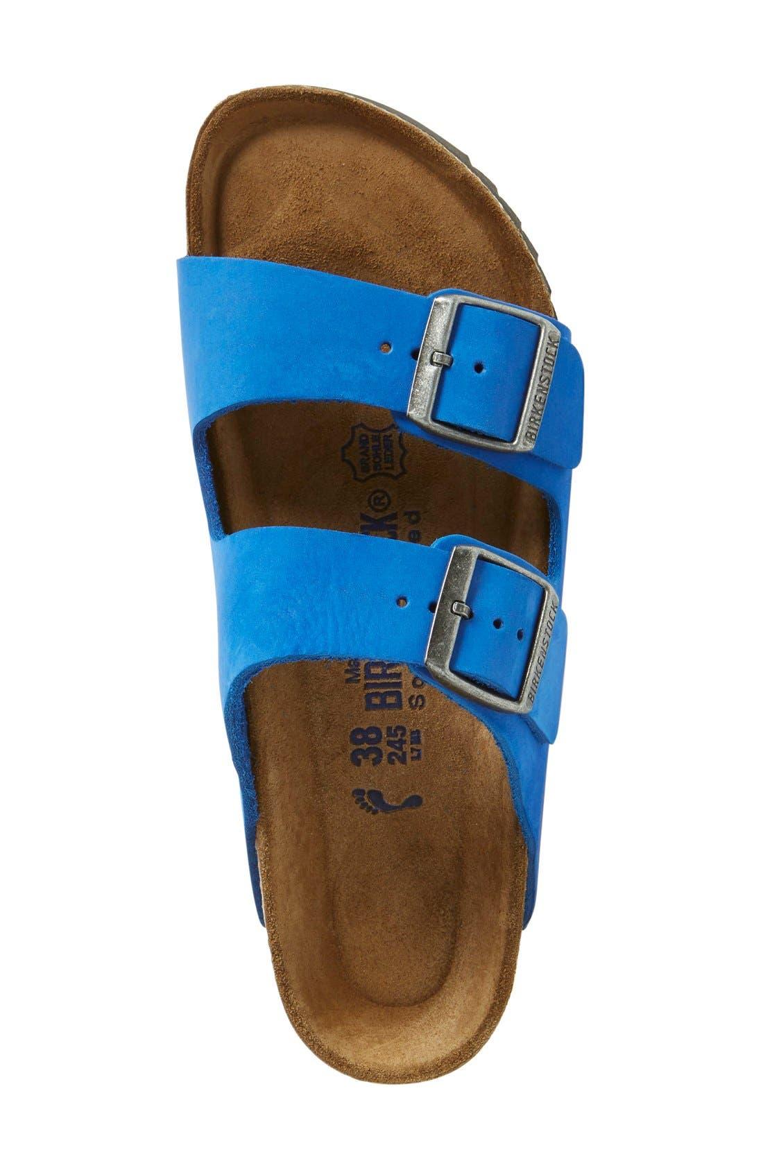 'Arizona' Sandal,                             Alternate thumbnail 3, color,                             Blue Nubuck
