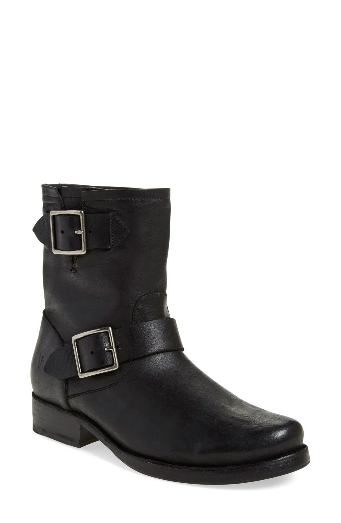 'Vicky Engineer' Boot,                         Main,                         color, Black Leather