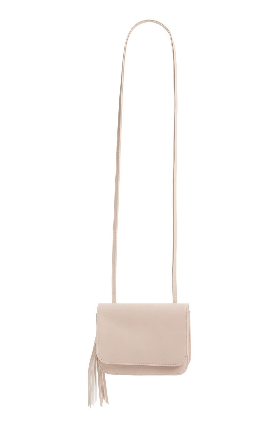 Tassel Crossbody Bag,                             Alternate thumbnail 6, color,                             Blush