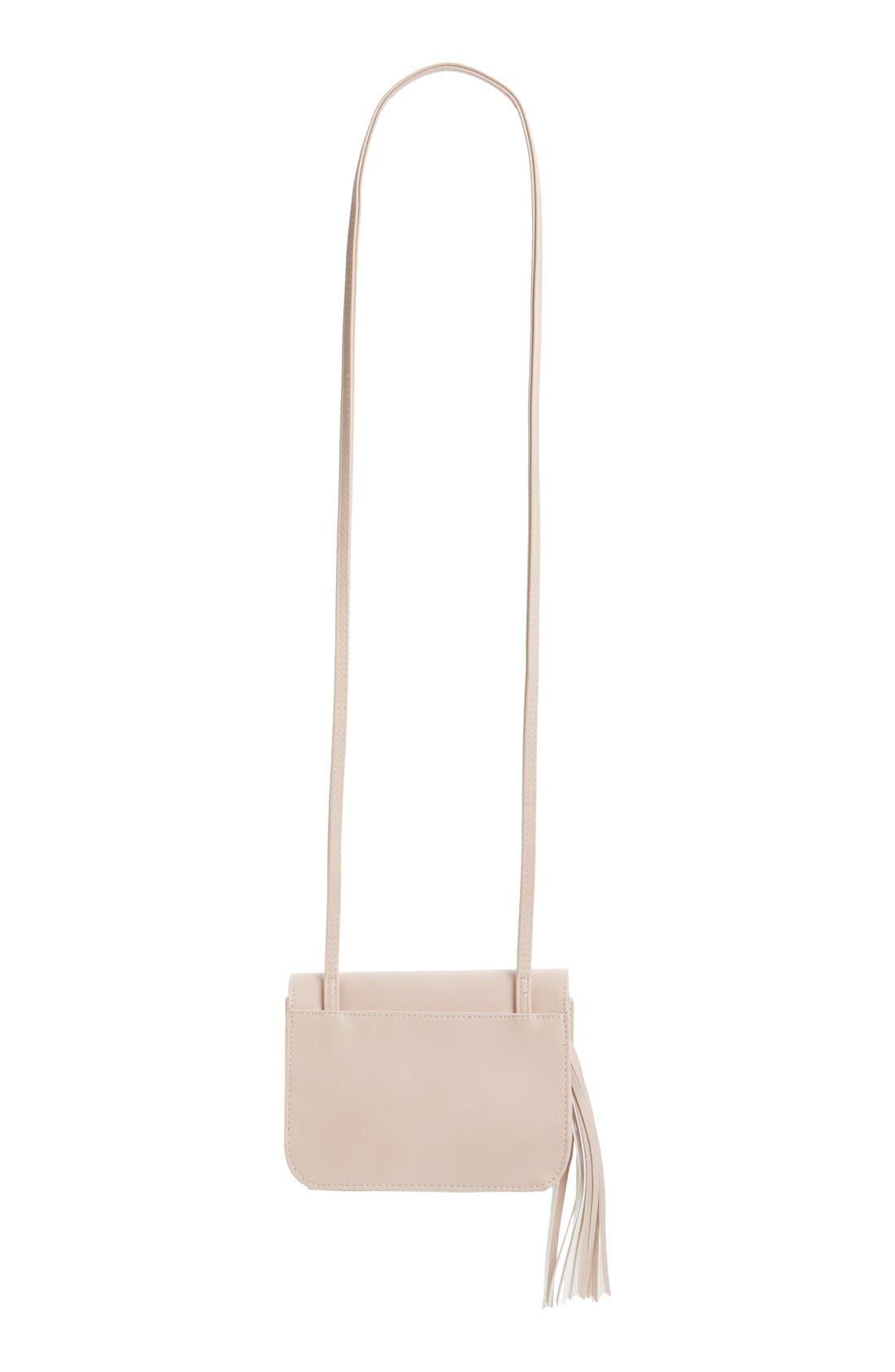 Tassel Crossbody Bag,                             Alternate thumbnail 3, color,                             Blush