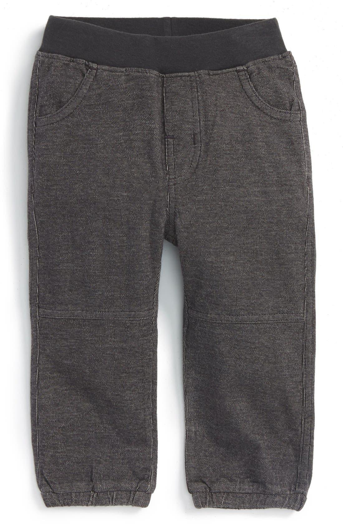 Alternate Image 1 Selected - Tea Collection Denim Look Sweatpants (Baby Boys)
