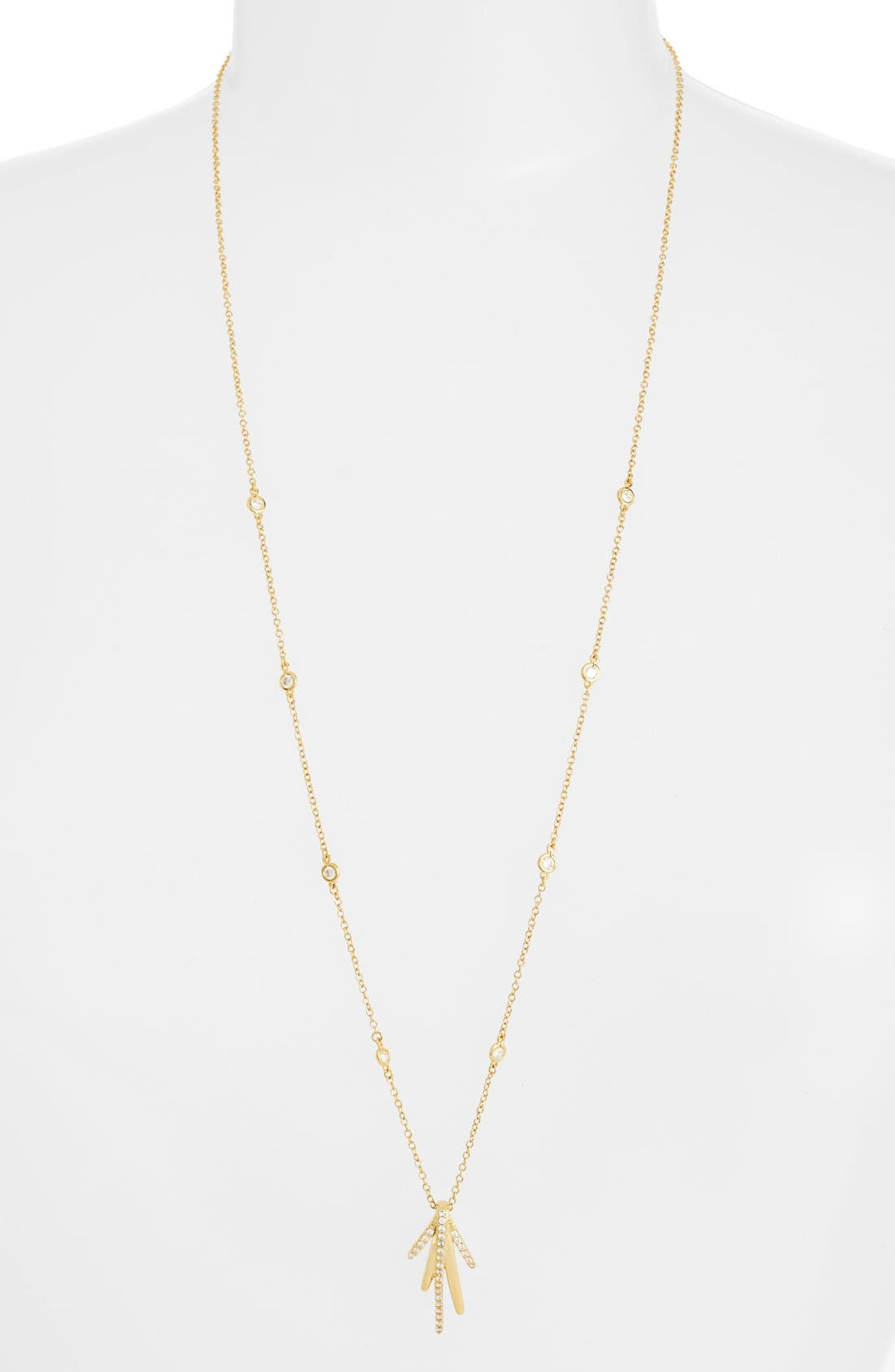 CZ by Kenneth Jay Lane Long Spike Cubic Zirconia Pendant Necklace