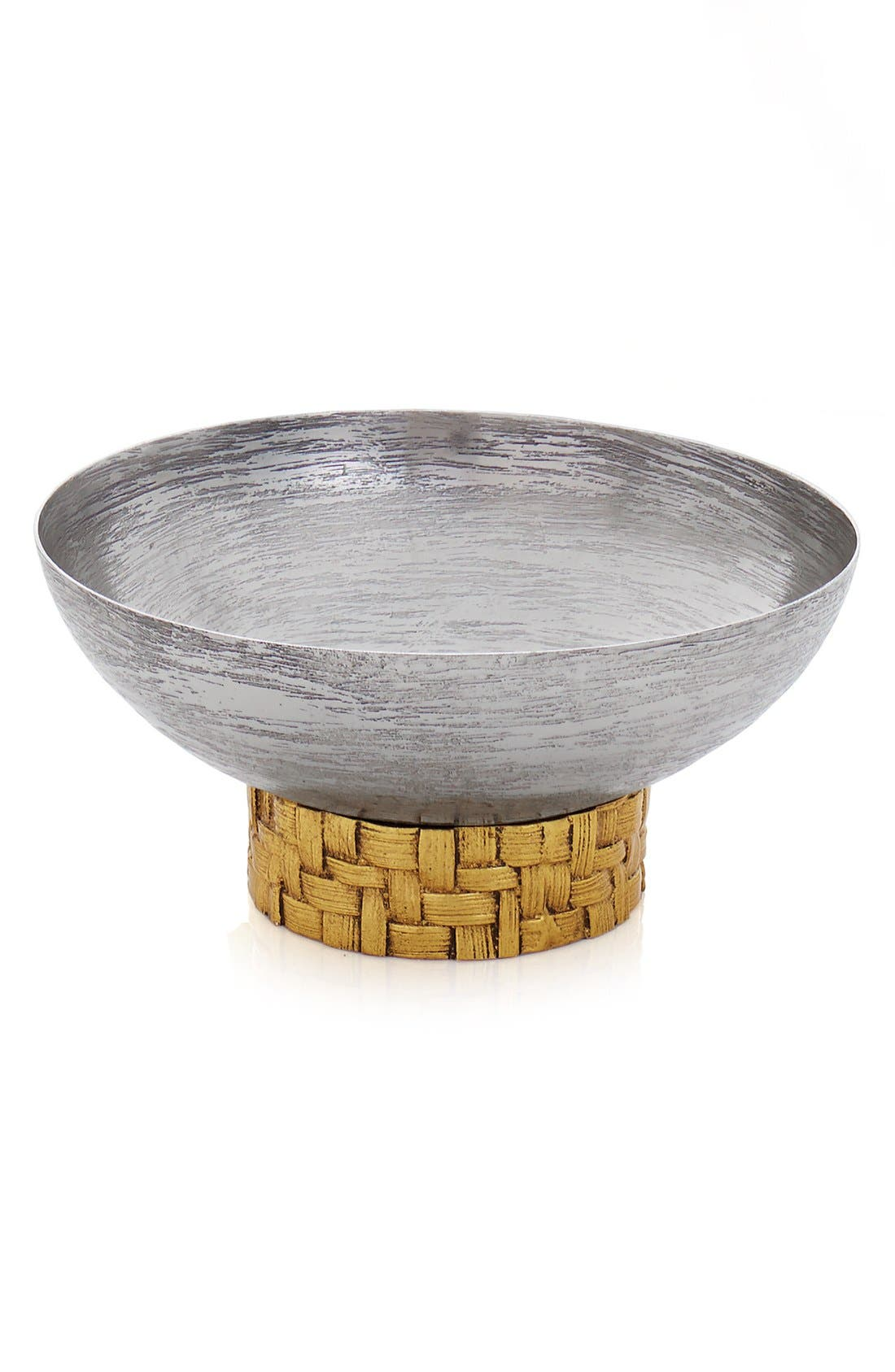 'Palm' Nut Bowl,                             Main thumbnail 1, color,                             Metallic Silver