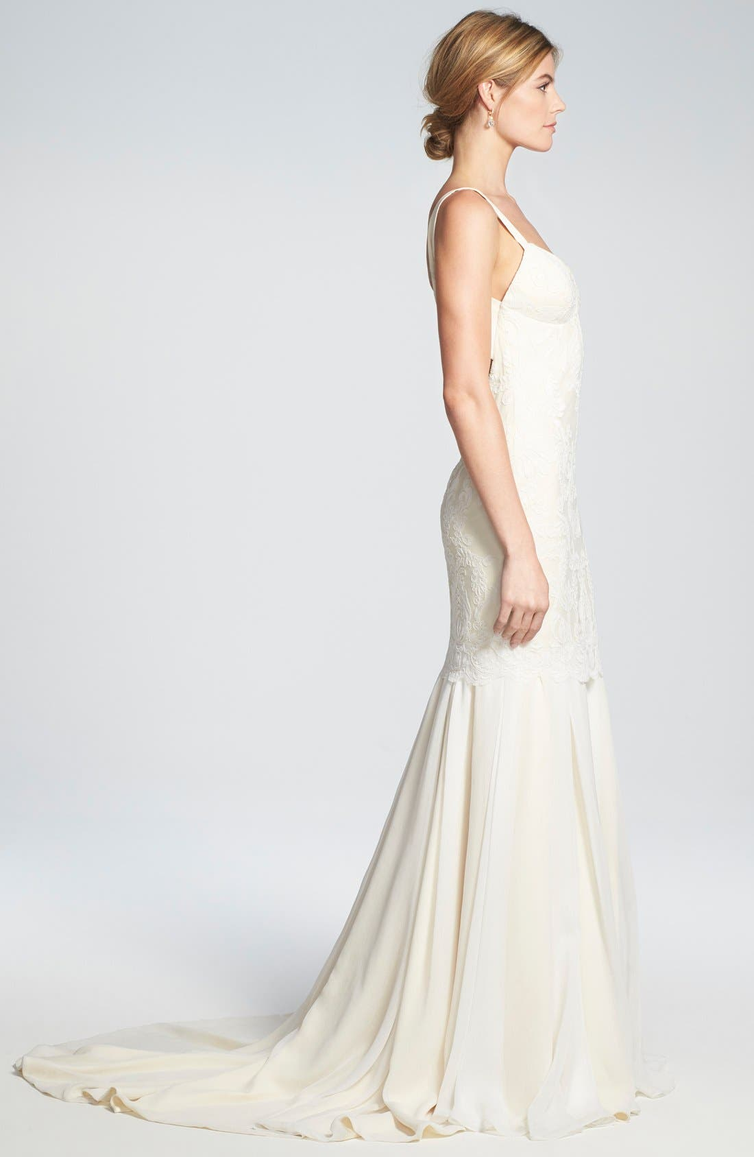 Alternate Image 3  - Katie May 'Monaco' Lace & Chiffon Trumpet Gown
