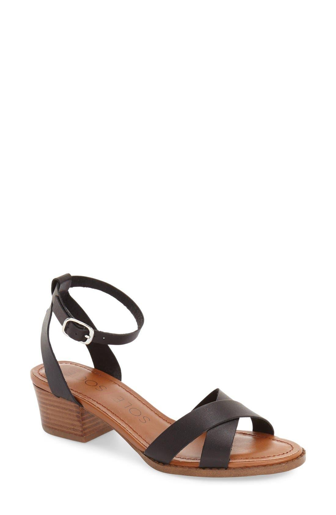 'Savannah' Sandal,                         Main,                         color, Black