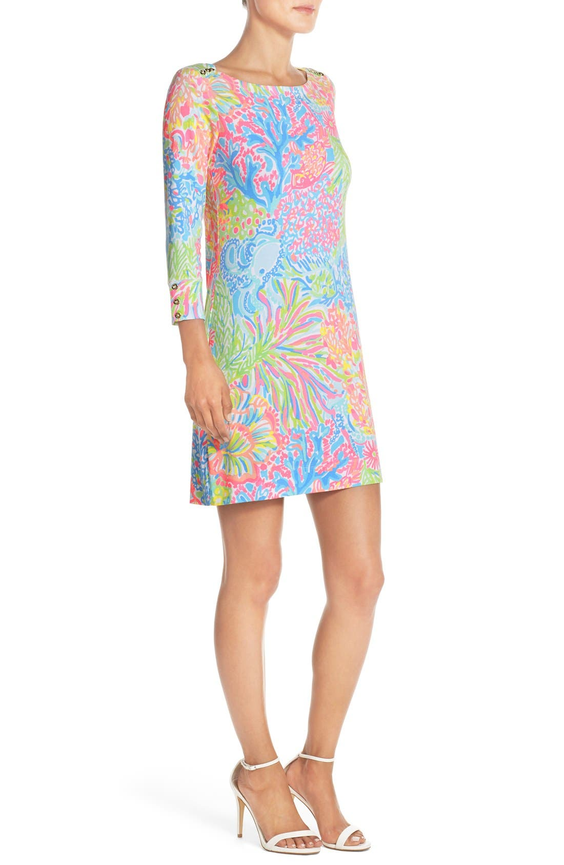 Alternate Image 4  - Lilly Pulitzer® 'Sophie' Print Jersey Shift Dress (UPF 50)