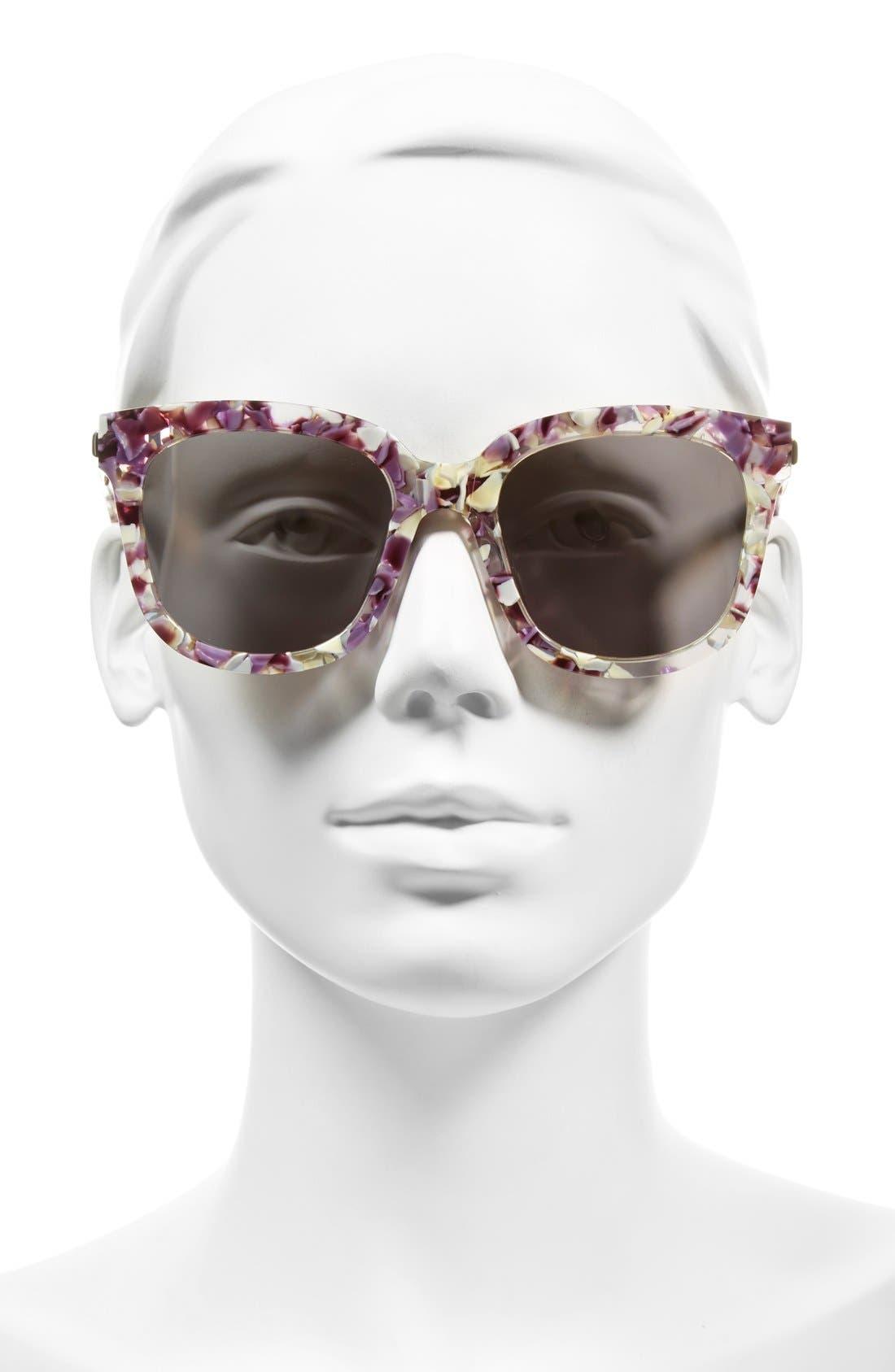 54mm Sunglasses,                             Alternate thumbnail 2, color,                             Light Purple/ Clear