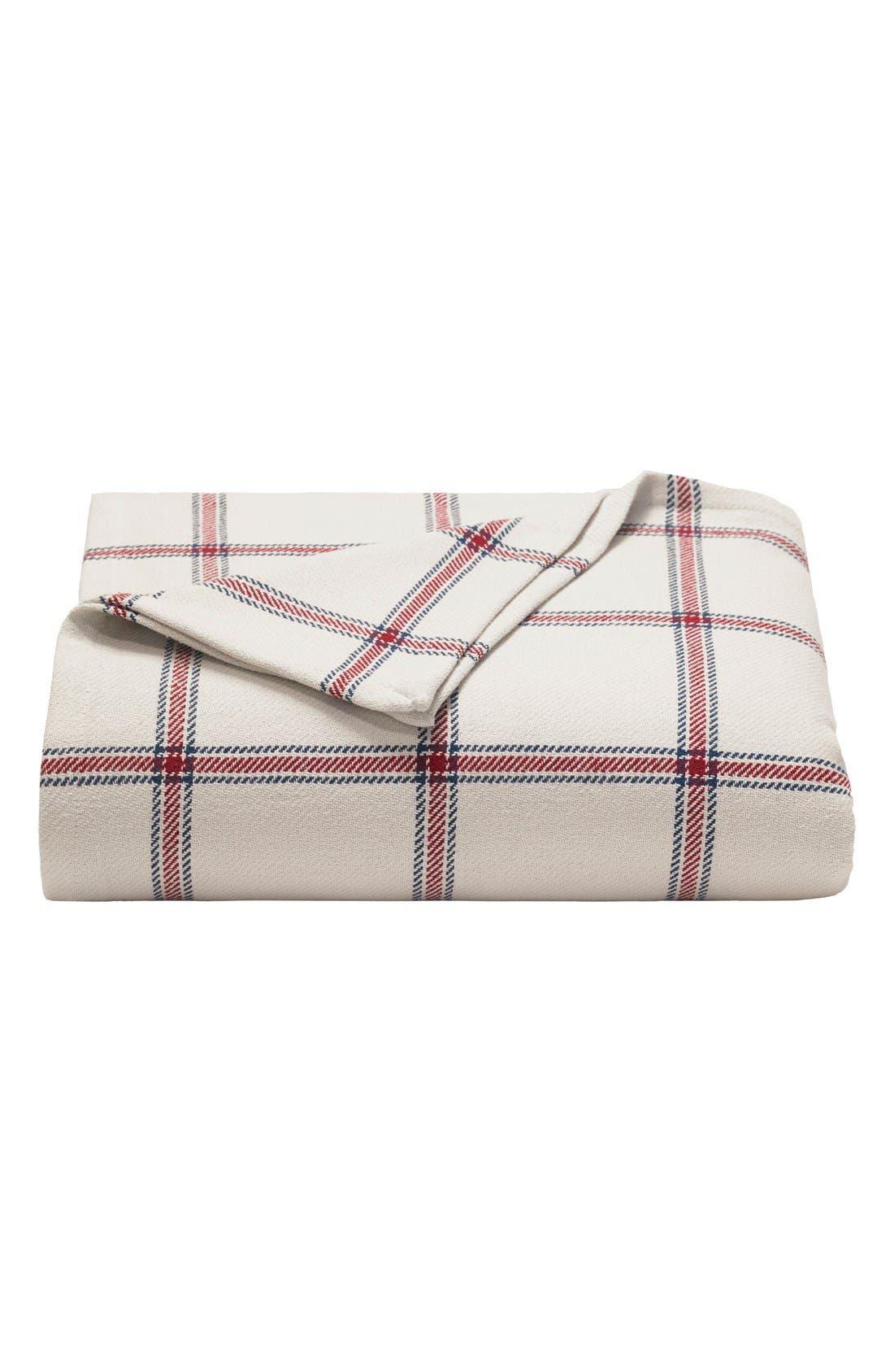 'Halstead' Windowpane Plaid Blanket,                         Main,                         color, Red