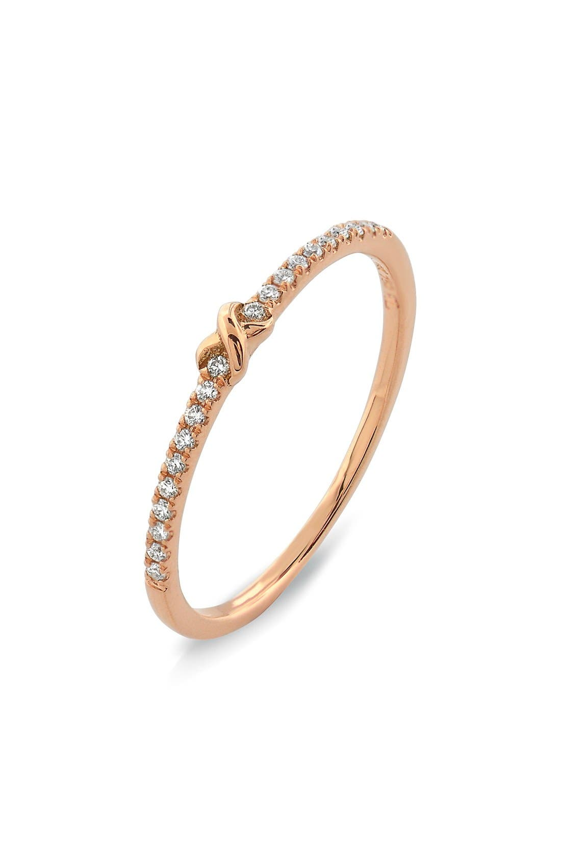 Bony Levy Stackable Knot Pavé Diamond Ring (Nordstrom Exclusive)