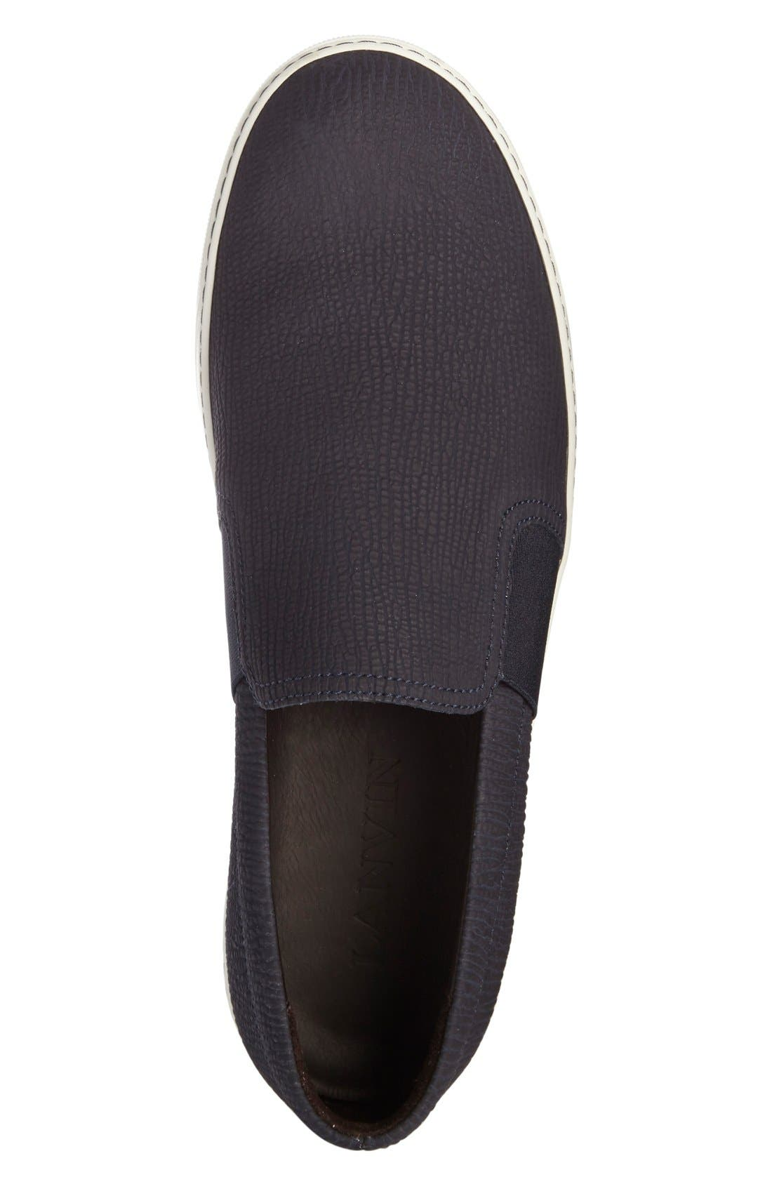 Matte Slip-On,                             Alternate thumbnail 3, color,                             Navy Leather