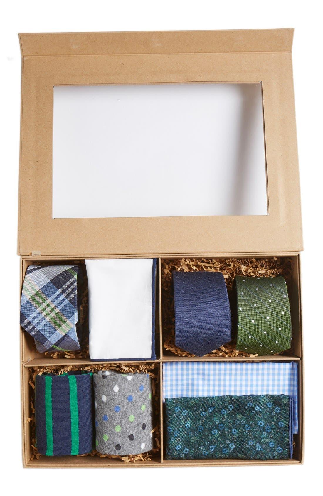 Large Style Box,                             Main thumbnail 1, color,                             Green/Navy