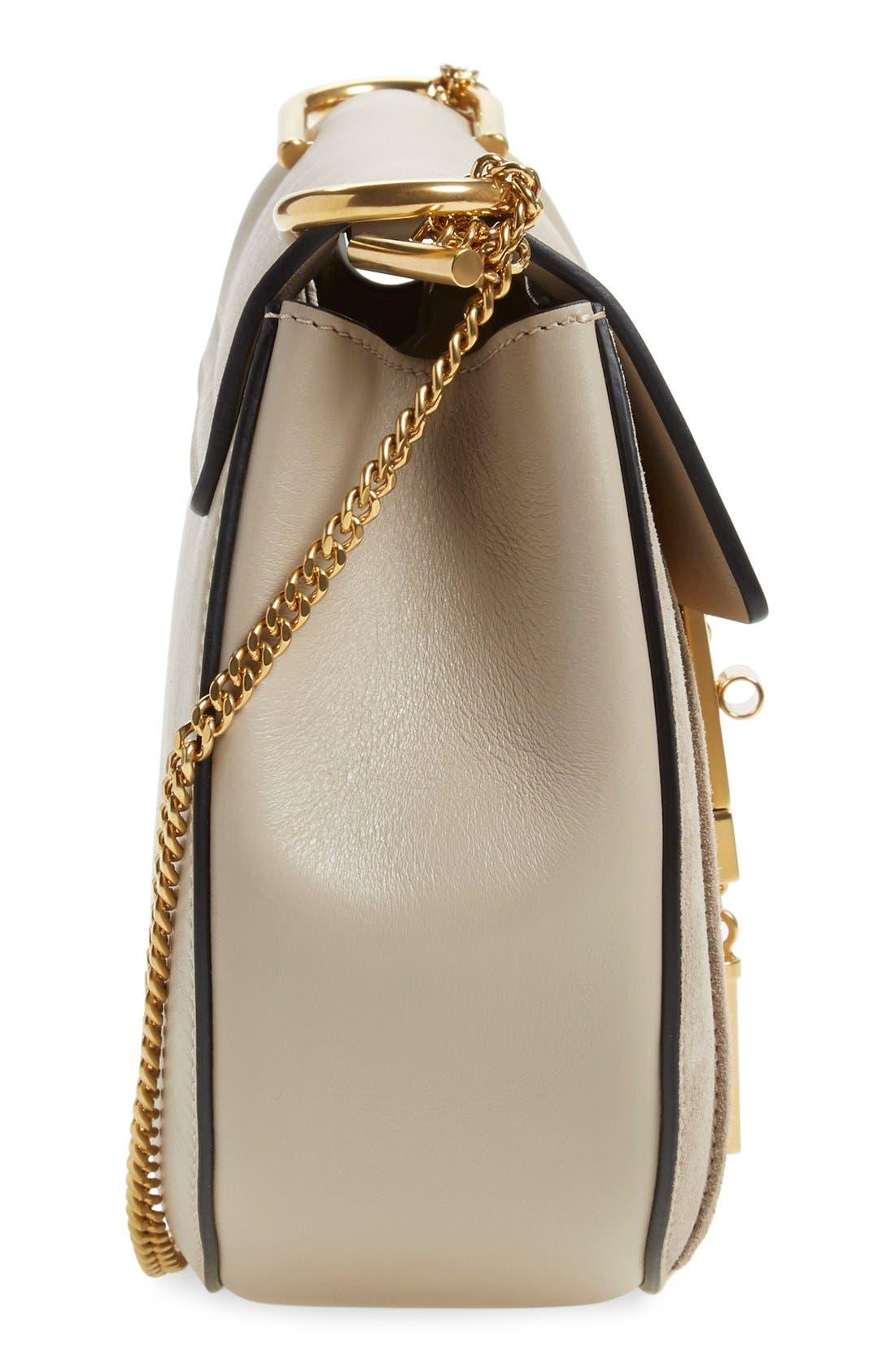 Alternate Image 3  - Chloé 'Small Drew' Suede Stripe Shoulder Bag
