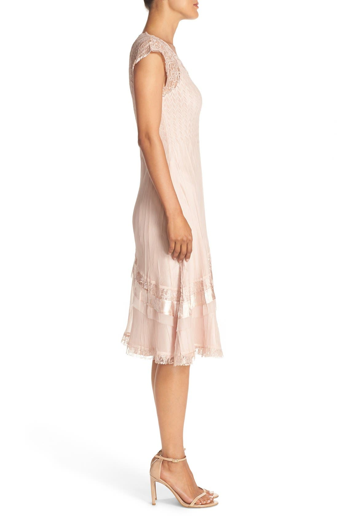 Alternate Image 3  - Komarov Mixed Media A-Line Dress