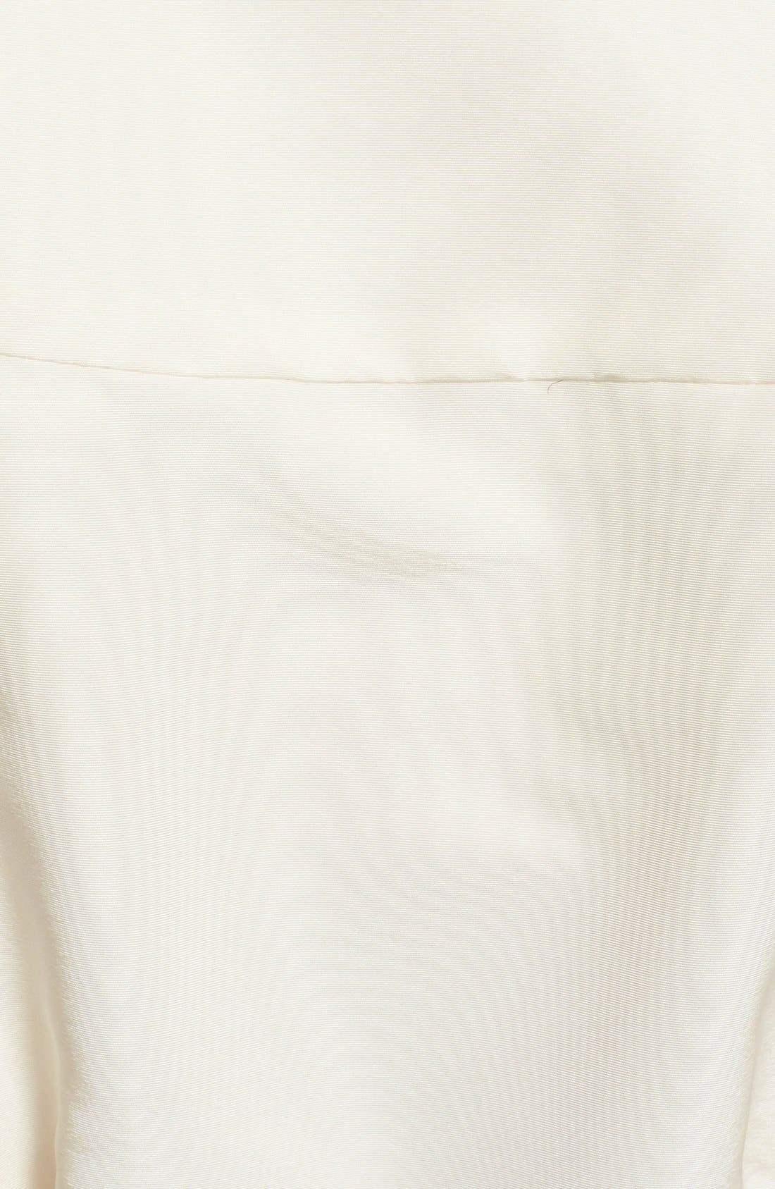 Belted Silk Wrap Blouse,                             Alternate thumbnail 3, color,                             White