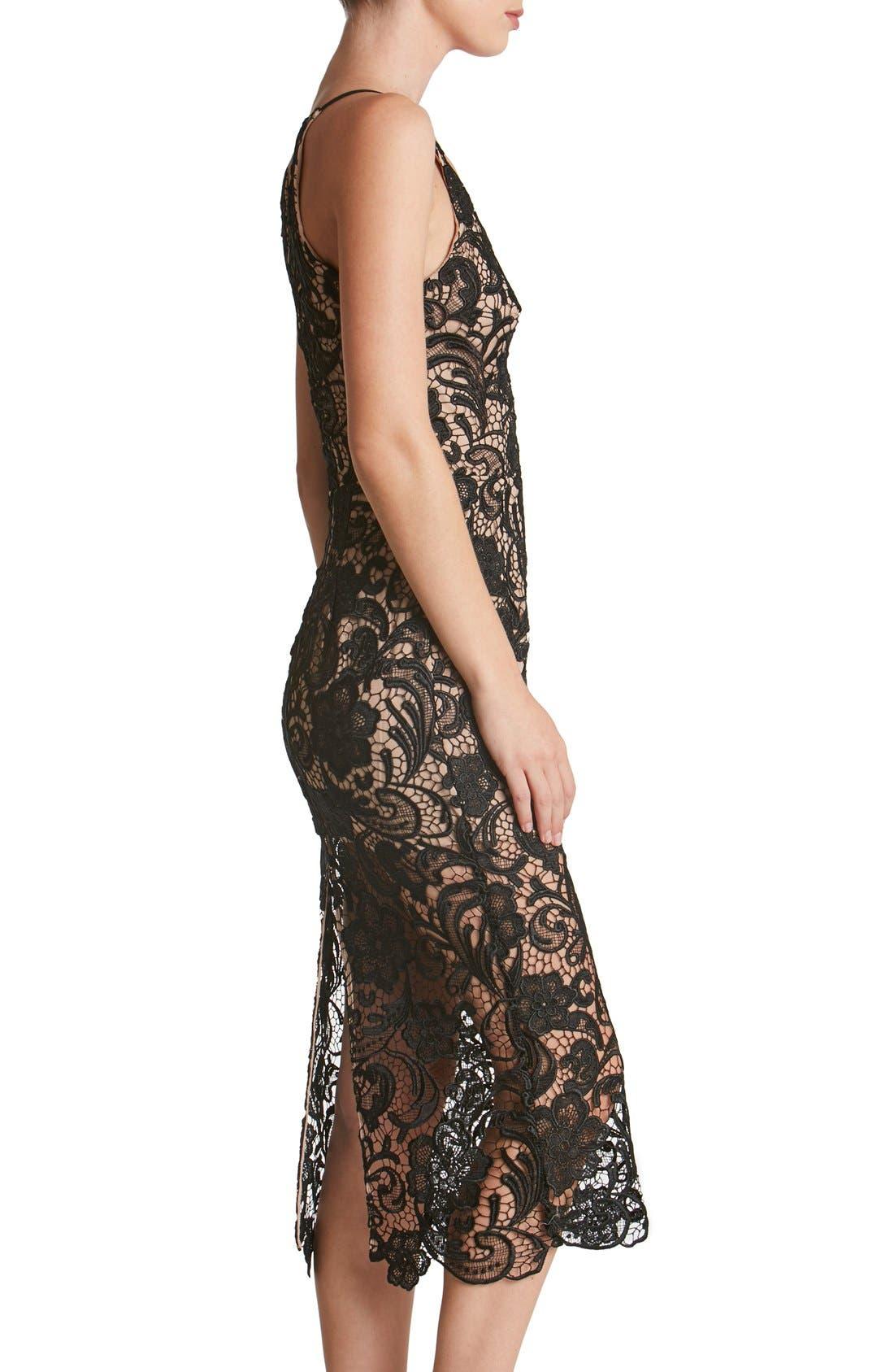 Alternate Image 4  - Dress the Population 'Marie' Lace Midi Dress