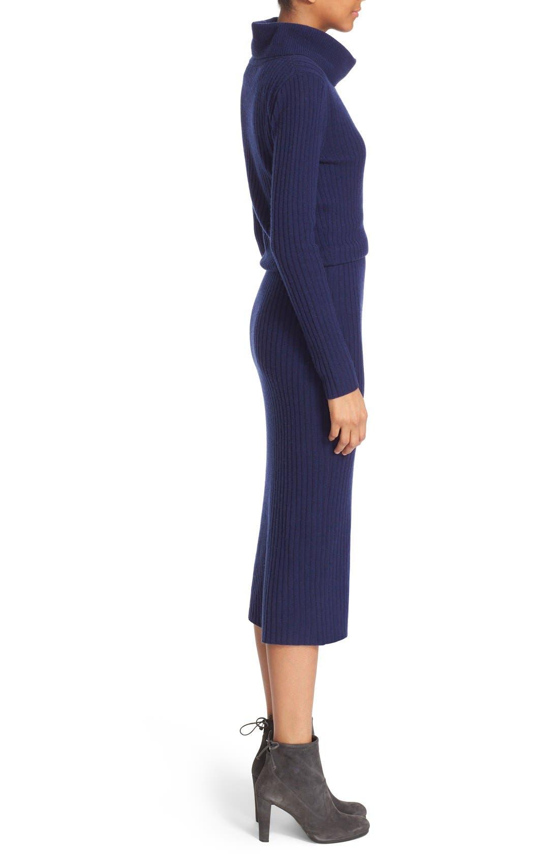 Alternate Image 3  - Alice + Olivia 'Hailee' Cowl Neck Blouson Sweater Dress