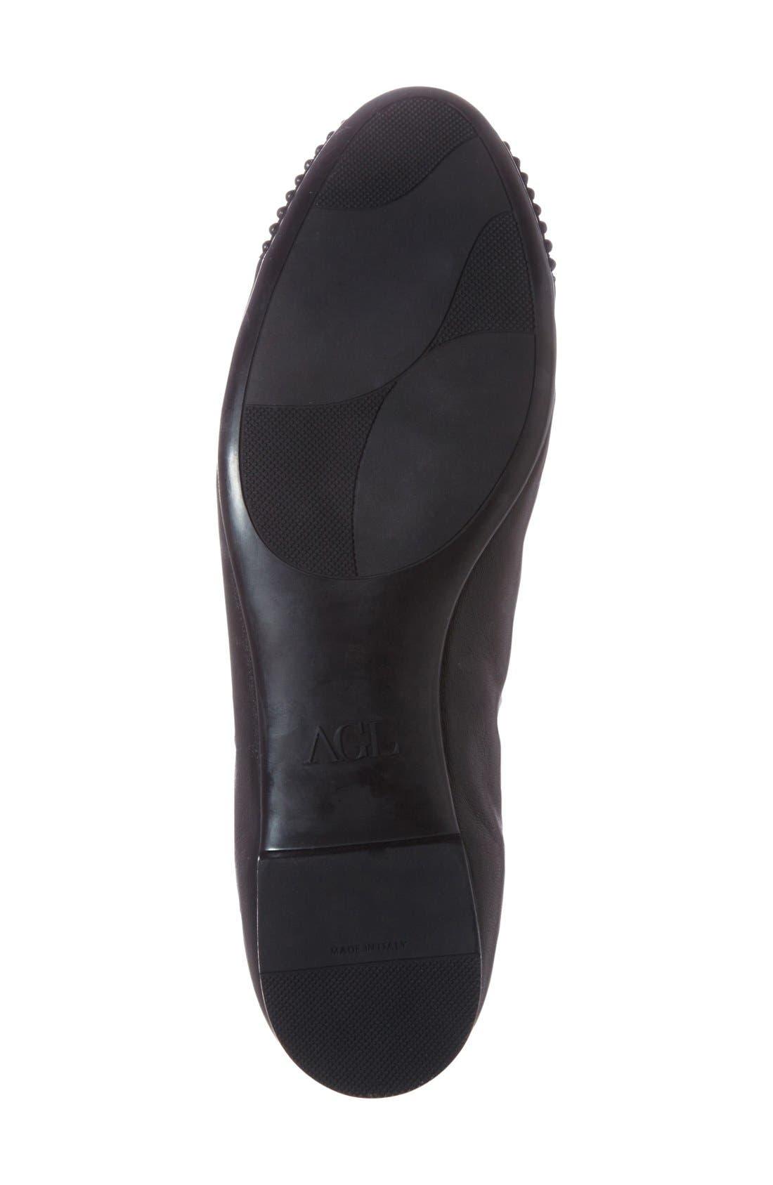 Alternate Image 4  - AGL 'Blakely' Studded Cap Toe Ballet Flat (Women)