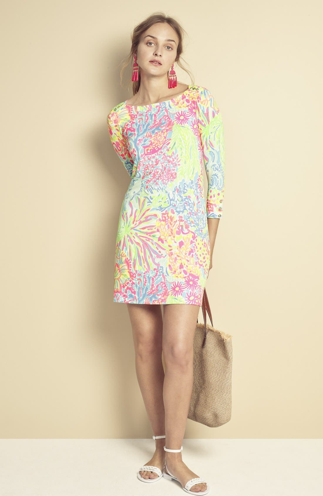 Alternate Image 7  - Lilly Pulitzer® 'Sophie' Print Jersey Shift Dress (UPF 50)