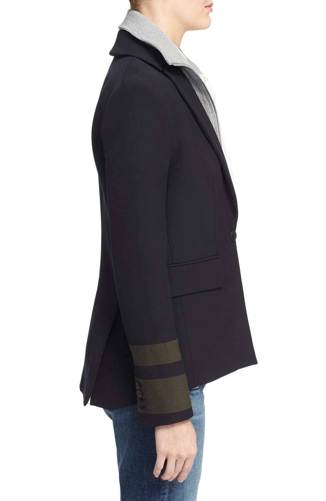 Alternate Image 4  - Veronica Beard Cutaway Jacket with Removable Knit Dickey