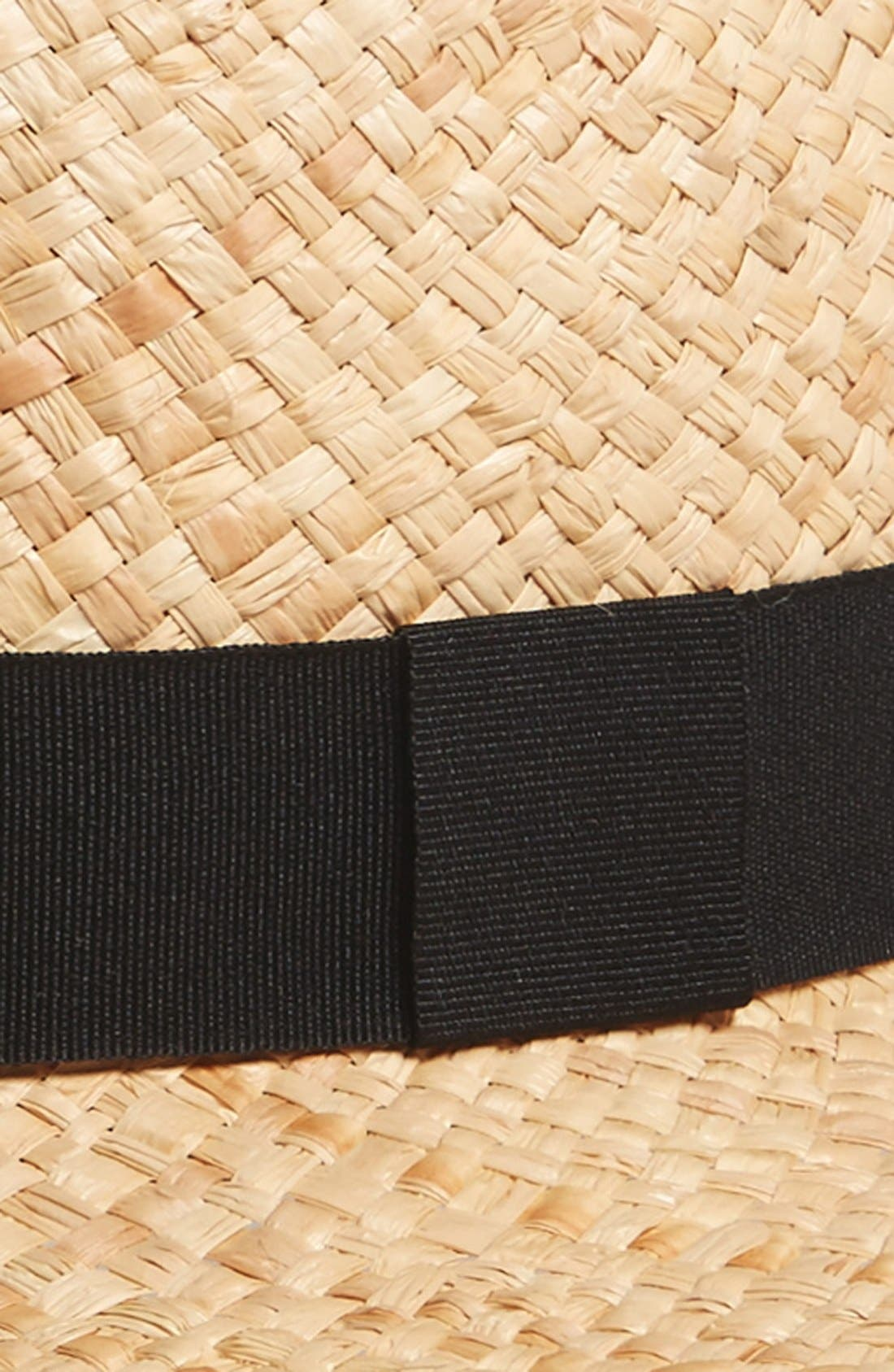 Alternate Image 2  - BP. Woven Raffia Boater Hat