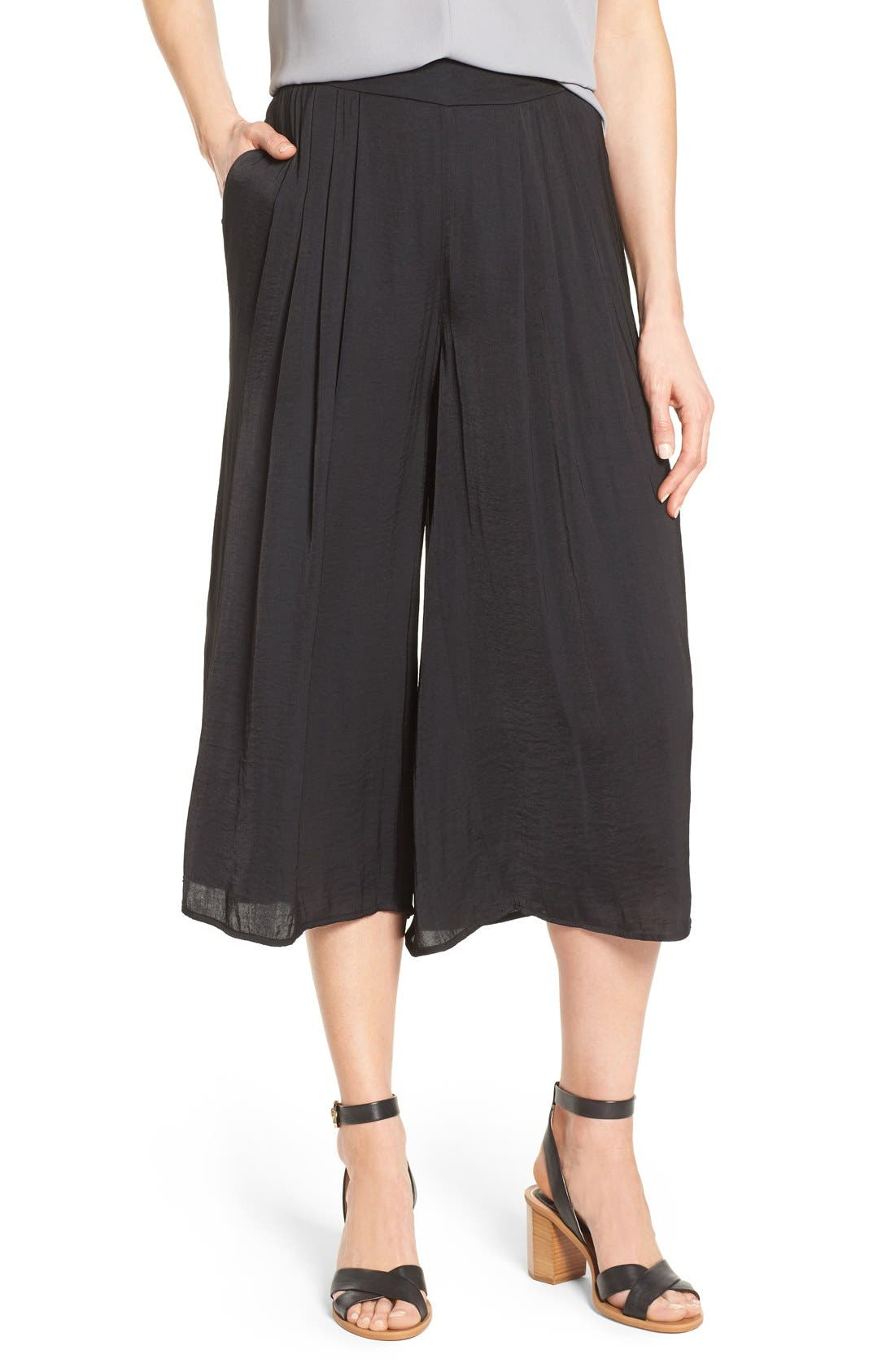 Alternate Image 1 Selected - Vince Camuto Rumple Wide Leg Culottes
