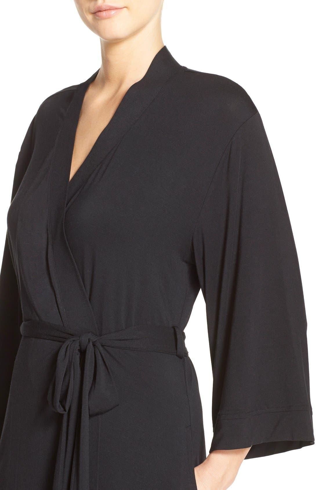 Alternate Image 4  - Nordstrom Lingerie 'Moonlight' Jersey Robe