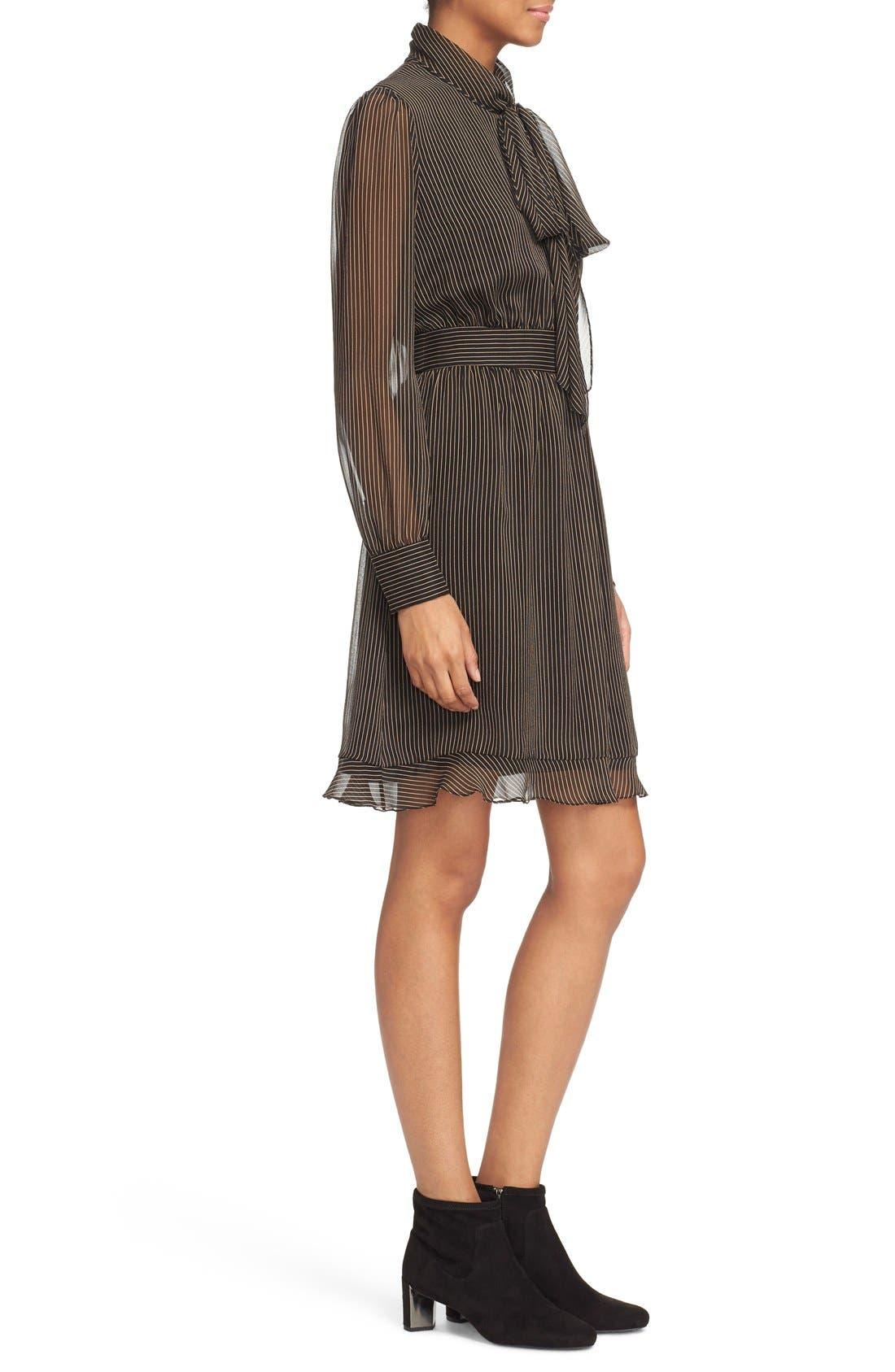 Alternate Image 3  - Diane von Furstenberg 'Arabella' Pinstripe Silk Dress