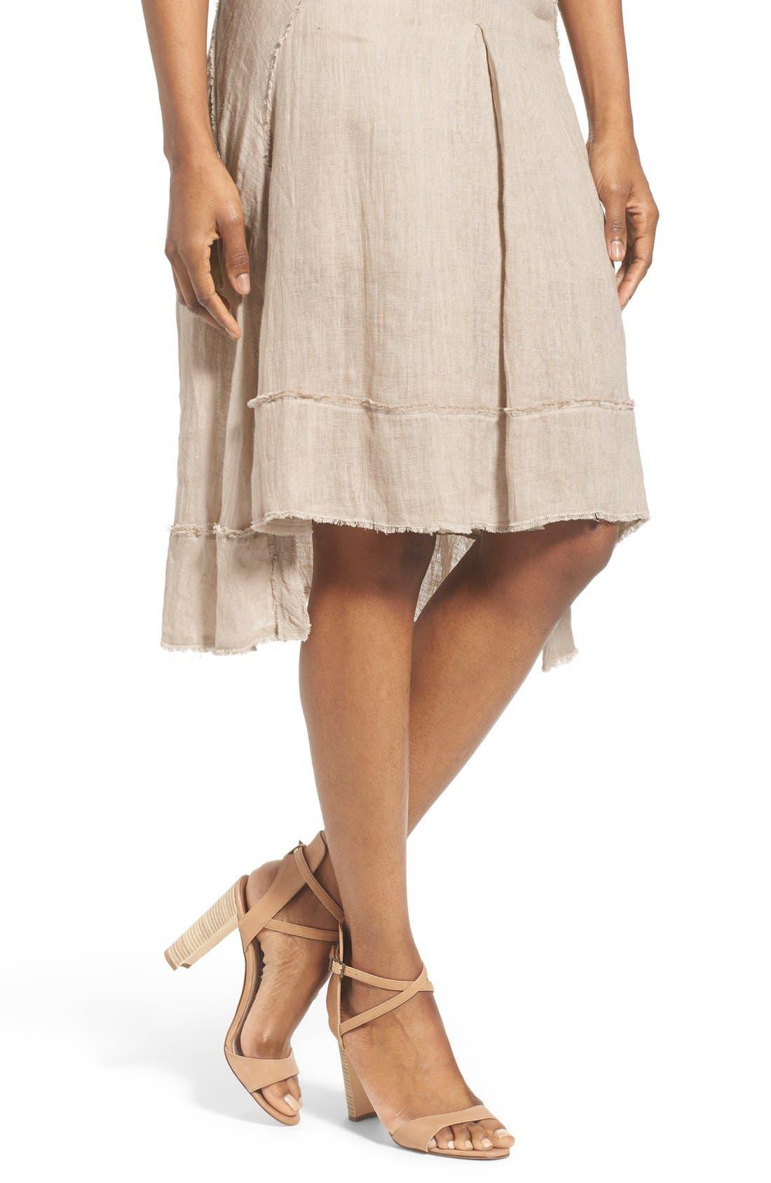 Alternate Image 4  - Elie Tahari 'Florence' High/Low Linen Skirt