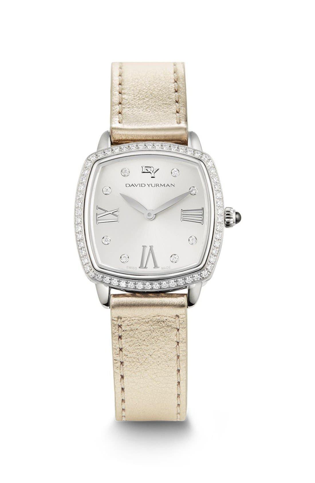 'Albion' 27mm Swiss Quartz Watch with Diamonds,                             Main thumbnail 1, color,                             Silver